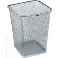 Kosz biurowy na śmieci kwadratowy GRAND GR-017S 18l siatkowy srebrny