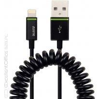 Kabel spiralny LEITZ Complete ze złączem Lightning na USB, 1 m, czarny