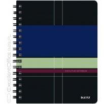 Kołonotatnik LEITZ Executive A5/80k, 90gsm, PP, w kratkę