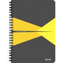 Kołonotatnik LEITZ Office Card A5/90k, 90gsm, w linię, żółty