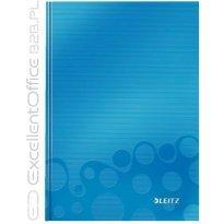 Brulion LEITZ WOW A5/80k, w kratkę, niebieski