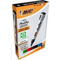 Marker permanentny BIC 12004  BIC okrągły kpl. 4kol.