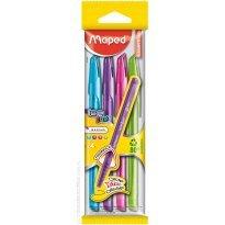 Długopis MAPED Ice Fine 1,0 ( błękit,róż,fiolet,jasnozielony)  kpl. 4 kol.
