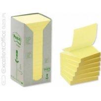 Bloczki ekologiczne 3M Post-it Z-notes 76*76mm żółte 16 szt x 100 kartek R330-1T