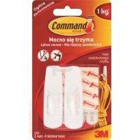 Haczyki COMMAND wielokrotnego użytku, średnie, białe (2 haczyki + 4 paski) 17001 PL