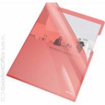 Ofertówki krystaliczne, sztywne A4, 150 mic, Esselte, czerwony