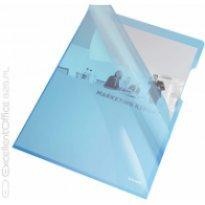 Ofertówki krystaliczne, sztywne A4, 150 mic, Esselte, niebieski