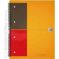 Kołonotatnik OXFORD ACTIVEBOOK A4+/80k linia
