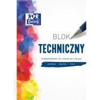 Blok techniczny OXFORD A4/10k 250g biały