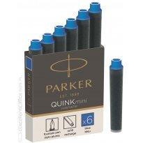 Naboje PARKER Quink Mini niebieskie (6szt)