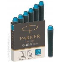 Naboje PARKER Quink Mini turkusowe (6szt)