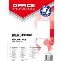 Blok do flipchartów OFFICE PRODUCTS 58,5x81cm 50k gładki