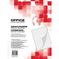 Blok do flipchartów OFFICE PRODUCTS 58,5x81cm, 20k, kratka