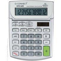 Kalkulator biurowy Q-CONNECT 12-cyfrowy szary 102x140mm szary KF01605