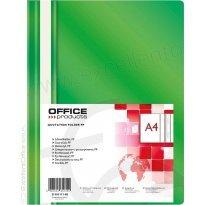Skoroszyt miękki OFFICE PRODUCTS PP A4 zielony (25szt)