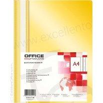 Skoroszyt miękki OFFICE PRODUCTS PP A4 żółty (25szt)