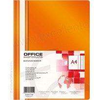 Skoroszyt miękki OFFICE PRODUCTS PP A4 pomarańczowy (25szt)