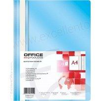 Skoroszyt miękki OFFICE PRODUCTS PP A4 jasnoniebieski (25szt)