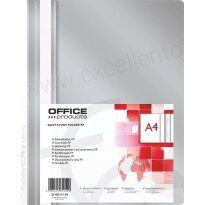 Skoroszyt miękki OFFICE PRODUCTS PP A4 szary (25szt)