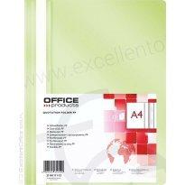 Skoroszyt miękki OFFICE PRODUCTS PP A4 jasnozielony (25szt)