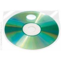 Kieszeń samoprzylepna Q-CONNECT na 2-4 CD/DVD 127x127mm, transparentna (10szt)