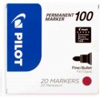 Marker permanentny PILOT SCA-100 okrągły, czerwony (15 + 5 gratis)