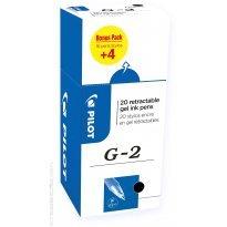 Długopis żelowy PILOT G2 czarny (16+4 gratis)
