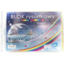 Blok rysunkowy POLIGRAF De Lux kolorowy A4/30k