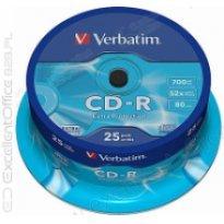 Płyta CD-R VERBATIM 700MB cake (25szt)