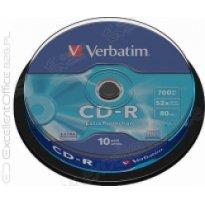 Płyta CD-R VERBATIM 700MB cake (10szt)