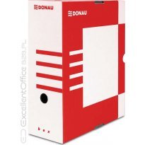Pudło archiwizacyjne DONAU 120mm czerwone
