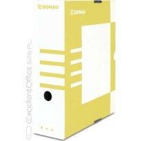 Pudło archiwizacyjne DONAU 100mm żółte