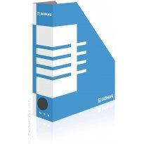 Pojemnik kartonowy na dokumenty DONAU A4/80mm biało/niebieski 7649001FSC-10