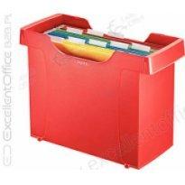 Kartoteka na teczki zawieszane Leitz Plus, czerwony