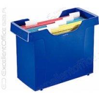 Kartoteka na teczki zawieszane Leitz Plus, niebieski