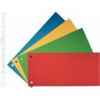 Przekładki kartonowe ESSELTE 1/3 A4 żółte (100szt)