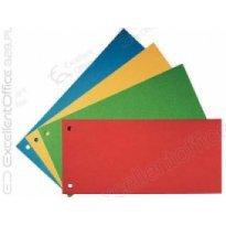 Przekładki kartonowe ESSELTE 1/3 A4 czerwone (100szt)
