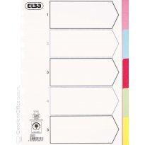 Przekładki kartonowe ELBA A4 5 kolorów