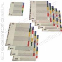 Przekładki PP BANTEX A4 MAXI 6 kolorów