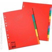 Przekładki kartonowe bez karty opisowej ESSELTE A4 10 kart w 5 kolorach