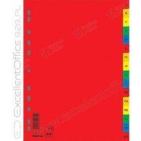 Przekładki DONAU A4 A-Z PP kolorowe 7726095