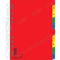 Przekładki DONAU A4 1-10 PP kolorowe 7712095