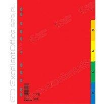 Przekładki DONAU A4 1-5 PP kolorowe 7708095
