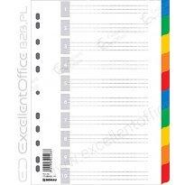 Przekładki DONAU A4 10 kolorów PP 7710095