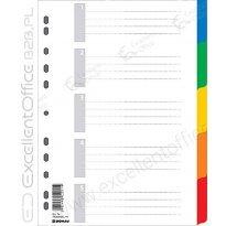 Przekładki DONAU A4 5 kolorów PP 7704095