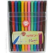 Flamastry RYSTOR RF 1,0 kpl. 12 kolorów w etui
