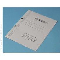 Skoroszyt kartonowy Kiel-Tech A4 oczkowy biały pełny (1szt)