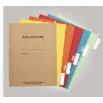 Skoroszyt zawieszkowy na akta osobowe SPIRAL A4 czerwony (10szt)