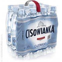Woda mineralna Cisowianka 0,5l gazowana (12szt) plastikowa butelka
