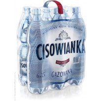 Woda mineralna CISOWIANKA 1,5l gazowana (6szt) plastikowa butelka